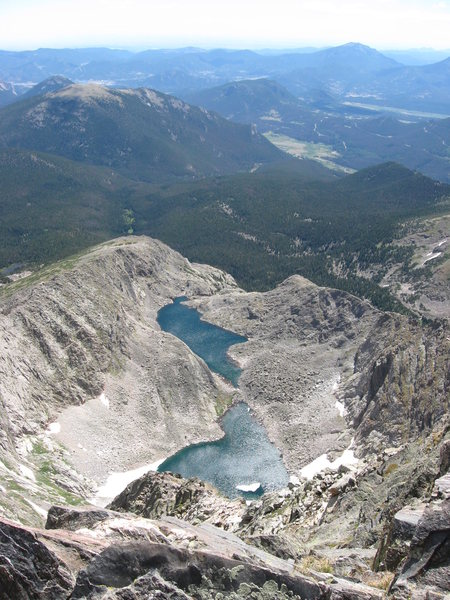 Rock Climbing Photo: View of Spectacle Lakes from Ypsilon Mountain summ...