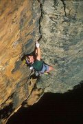 Rock Climbing Photo: Leading Super Crack at the NRG. Photo by Mike Turn...