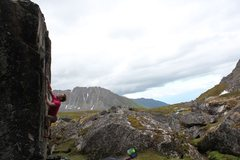 Rock Climbing Photo: Jared Lavacque on Captain Kaboom V6 at Independenc...