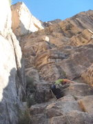 Rock Climbing Photo: First pitch. Looks blocky, but climbs well. We wil...