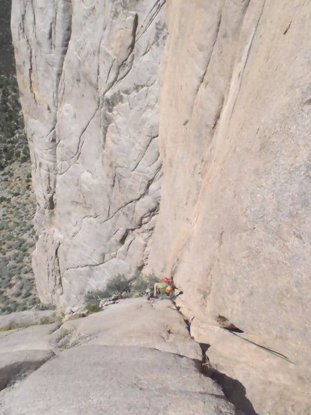 Rock Climbing Photo: Pitch Two. The great finish to a long pitch.