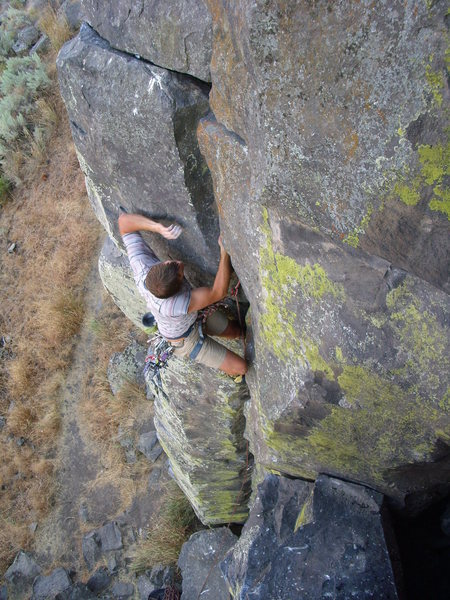 Rock Climbing Photo: Cory onsights P&V.  Jocelyn T behind the lens.