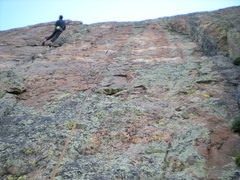 Rock Climbing Photo: Paul lowering back to the '5.10 ledge' after climb...