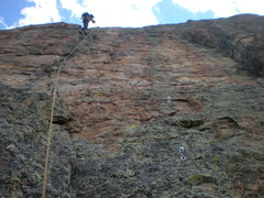 Rock Climbing Photo: Pitch 2 of 'The Hotness' follows the line of bolts...