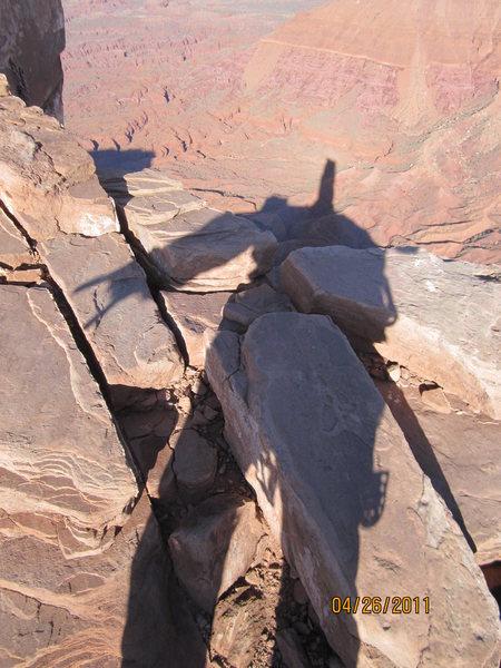 Rock Climbing Photo: Top of Castleton