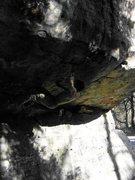 Rock Climbing Photo: Amazing undone highball deep in PA