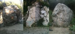 Rock Climbing Photo: The Bridge Boulder, Wall Boulder, and Canyon Crest...