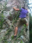 Rock Climbing Photo: The center V1