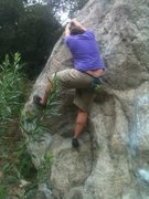 Rock Climbing Photo: The left arete route