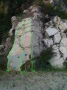 Rock Climbing Photo: The Wall Boulder