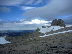 Rock Climbing Photo: First view of the Conness summit on the right once...