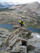 Rock Climbing Photo: Up an exposed knife-edge along the West Ridge.  27...