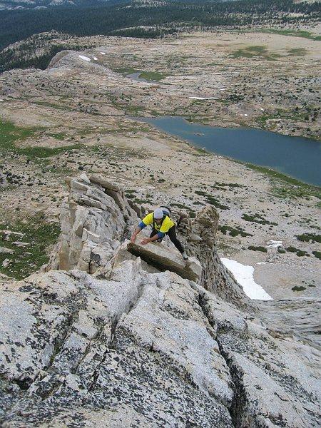Rock Climbing Photo: Further up the West Ridge.  27 Aug 2011.