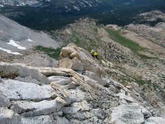 Rock Climbing Photo: Up beautiful granite along ridgeline edge in breat...