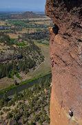 Rock Climbing Photo: Me leading Monkey Space.  Photo by Austin Siadak.