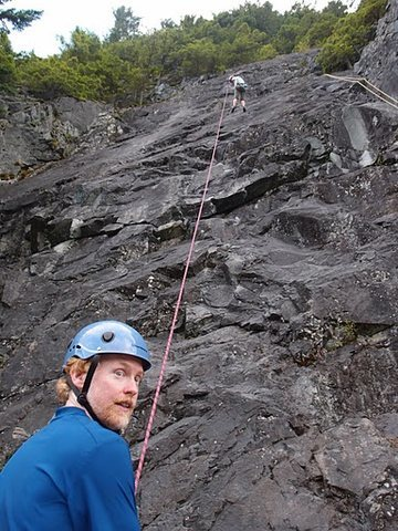 Rock Climbing Photo: SB being lowered down Absolutely Nothing. The yell...