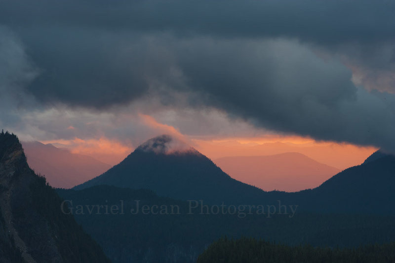 Rock Climbing Photo: Rainier National park, Sunset.