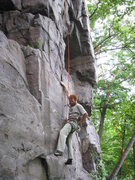 Rock Climbing Photo: Chris at the start.