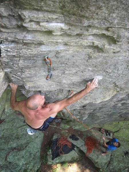 Rock Climbing Photo: Mr Mix on Kingdom Come.
