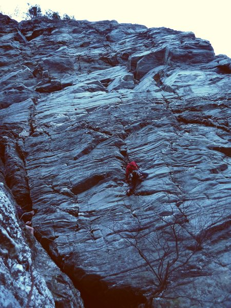 Rock Climbing Photo: Break on Through, Moore's Wall, NC (2011)... on on...