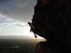 Rock Climbing Photo: Couldn't help but sit on the horn of Short Roof at...