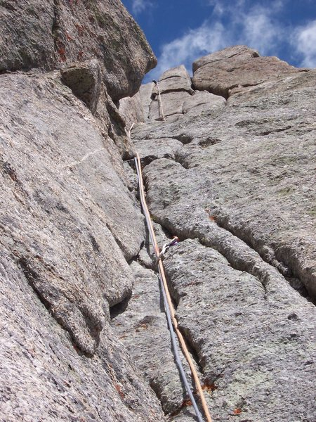 Rock Climbing Photo: looking up the first pitch