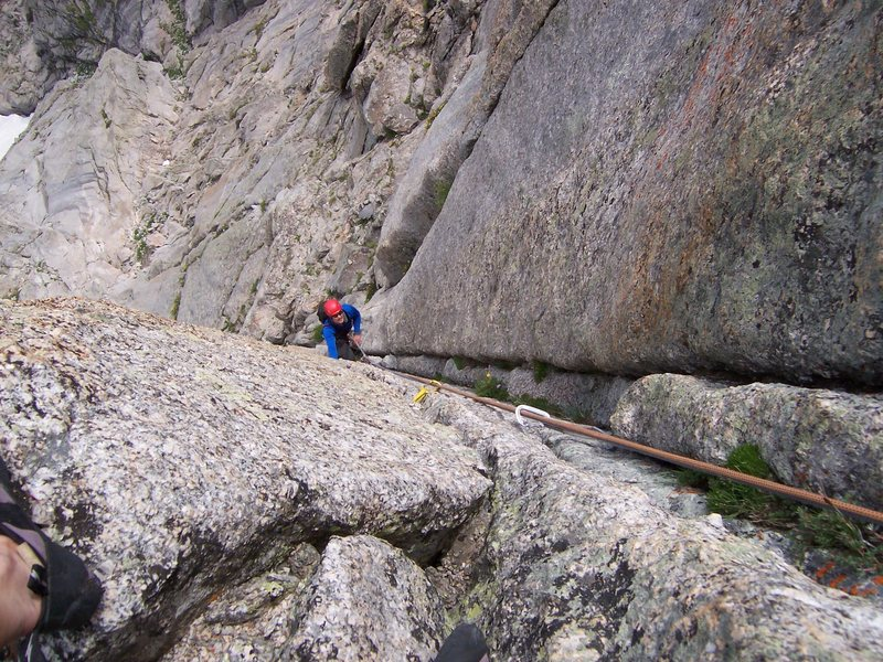 Rock Climbing Photo: following the sustained corner