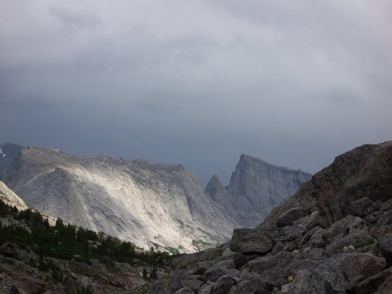 Rock Climbing Photo: the weather moves in