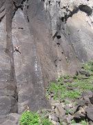 Rock Climbing Photo: Michael Approaching the crux of Guiding Light