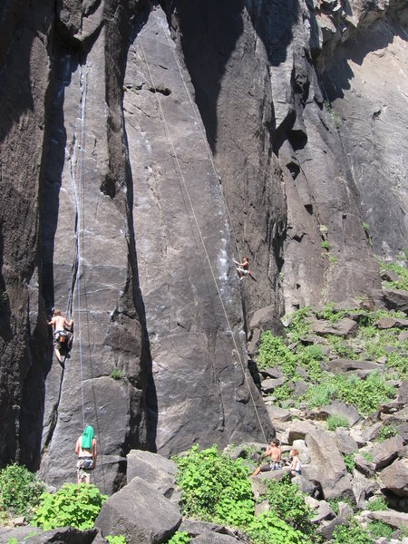 Rock Climbing Photo: The climb on the the left is a great route