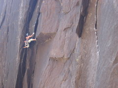 Rock Climbing Photo: Marcy pulling the crux.