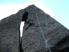 Rock Climbing Photo: Brian on Tomb Grooming for Tut