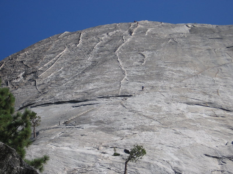 Rock Climbing Photo: A bunch of parties on Snake Hike
