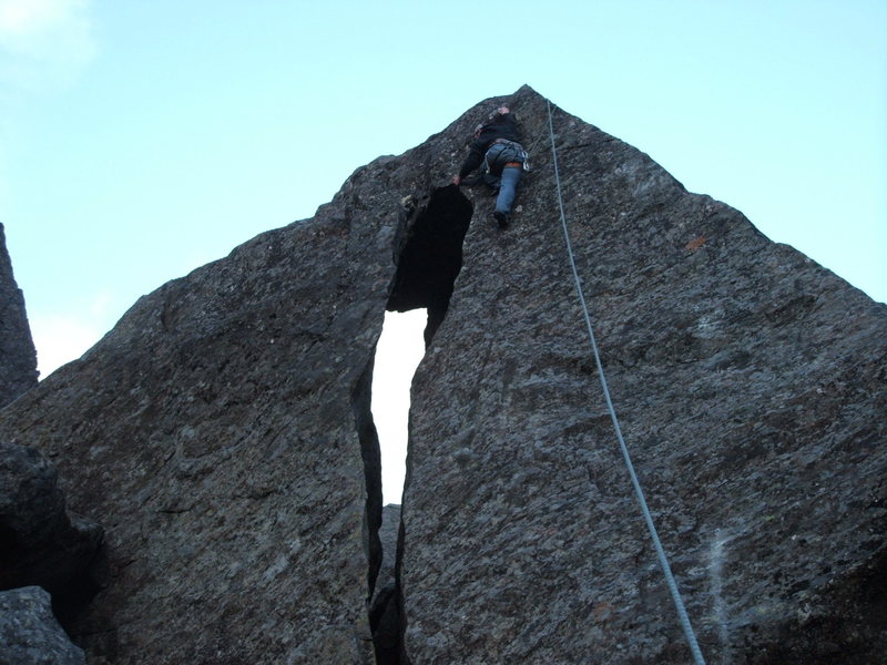 Rock Climbing Photo: Brian T. on Tomb Grooming for Tut