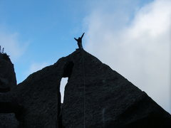 Rock Climbing Photo: Brian on top of It's All Fun and Games Until the S...