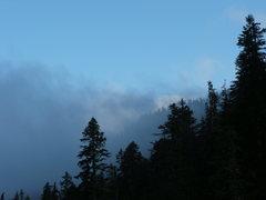 Rock Climbing Photo: Mountain Mist
