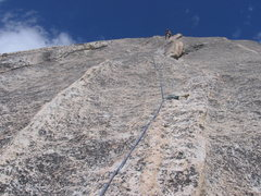 Rock Climbing Photo: Marcy leading one of the upper pitches