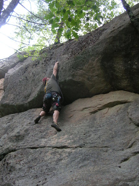 "Rock Climbing Photo: Joshua Corbett follows the FA of ""Dirty Harry..."