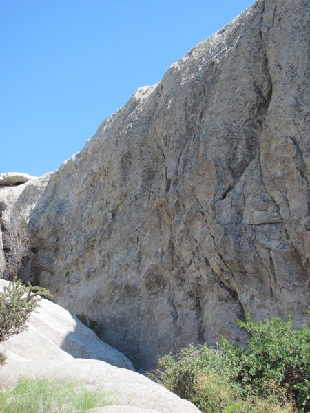 Rock Climbing Photo: Practice Rock face as seen from the adjacent parki...