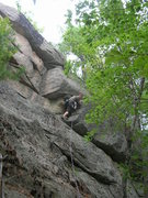"Rock Climbing Photo: The short inside corner of ""Centerfold."""