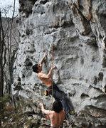 Rock Climbing Photo: ME TRYING TO CLIMB A 12