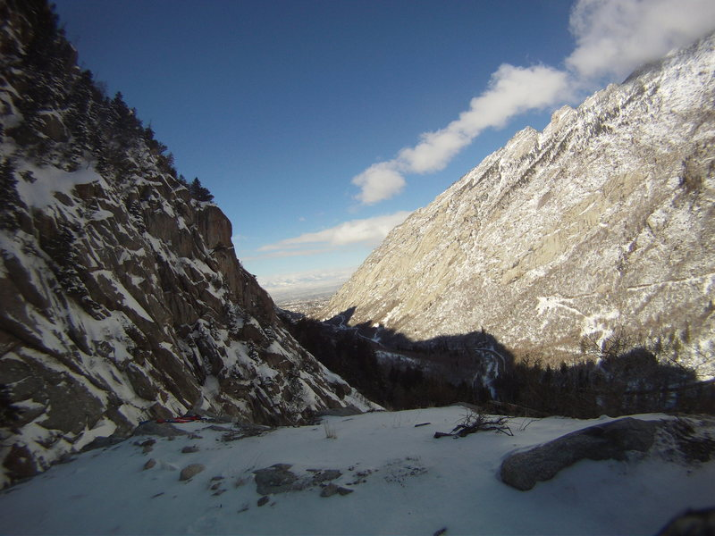 Rock Climbing Photo: veiw of slc valley from great white icicle