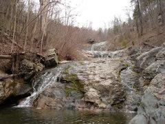 Rock Climbing Photo: bottom half of Big Branch Falls where main trail c...