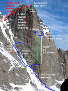 Rock Climbing Photo: This photo includes the rap route on the west face...
