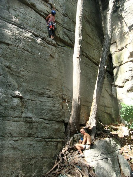 Rock Climbing Photo: Finally led something again after five freaking ye...