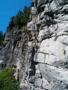 Rock Climbing Photo: wall #1 flat grassy base, beach, steep...