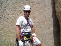 Rock Climbing Photo: My first lead.  Ed's Crack