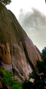 Rock Climbing Photo: Beautiful left-facing dihedral on the dome above B...