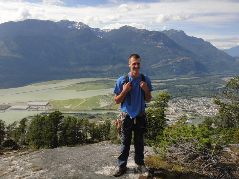 Rock Climbing Photo: On top of the Chief, Squamish