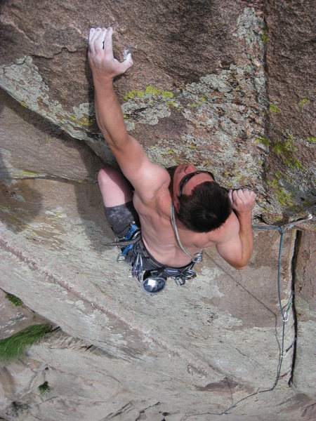 Rock Climbing Photo: Jake Hains pulling the second roof.